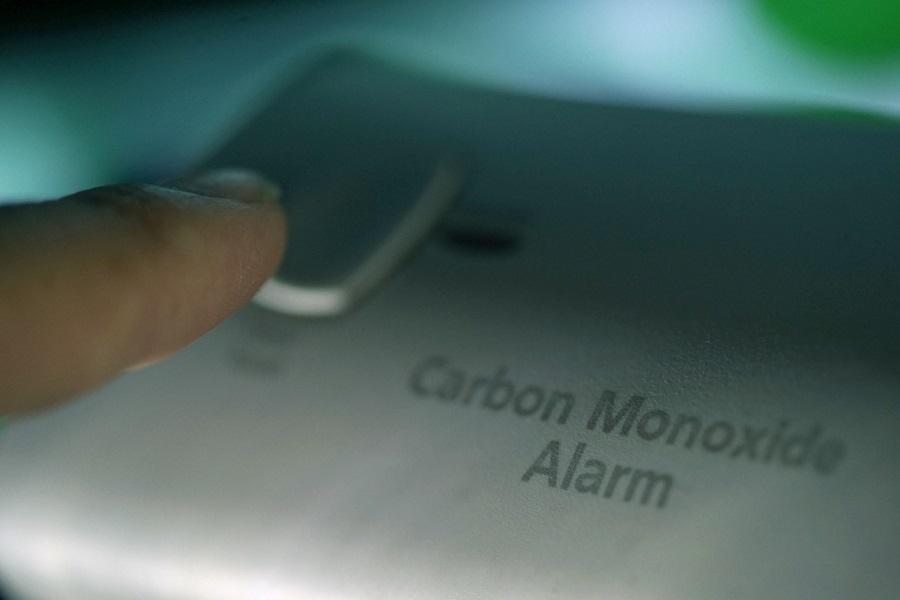 shot of carbon monoxide detector