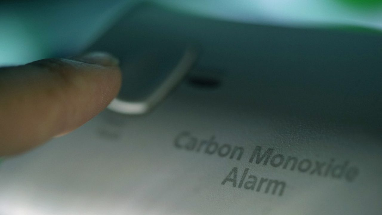 shot of carbon monoxide detector